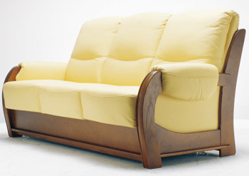 Link toEuropean-style three seats yellow sofa 3d model