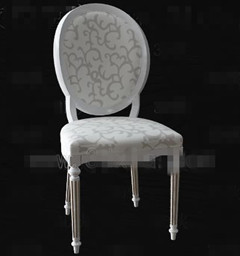 Link toEuropean-style white palace-style wooden chair 3d model