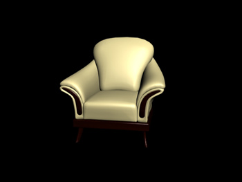 Link toEuropean-style wooden base single sofa 3d model