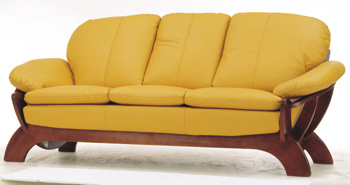 Link toEuropean-style yellow leather sofa 3d model
