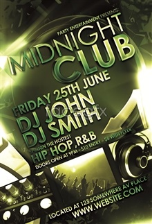 Link toEuropean version dj night poster psd