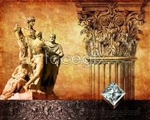 Link toEuropean vintage posters psd diamond template