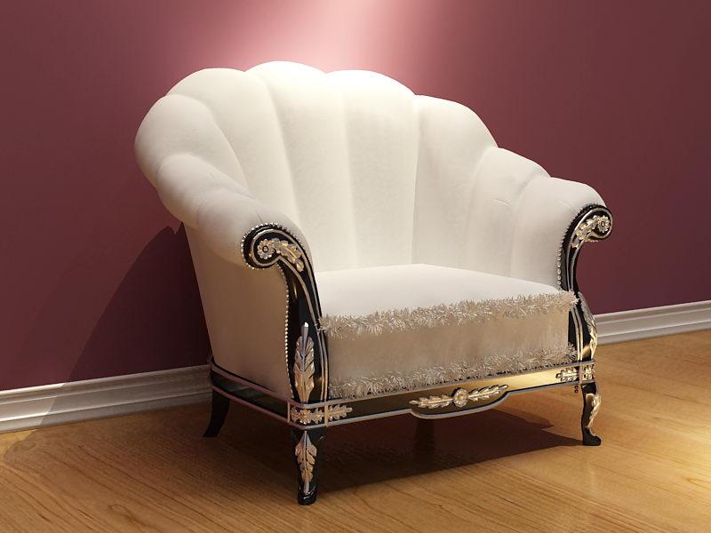 Link toEuropean white elegant single sofa 3d model (including materials)