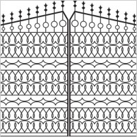 Link toEuropeanstyle iron wall pattern 01 vector