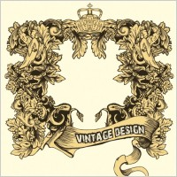 Link toEuropeanstyle lace frames retro pattern vector