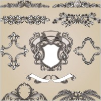 Link toEuropeanstyle lace pattern 01 vector