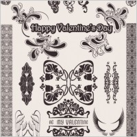 Link toEuropeanstyle love pattern vector