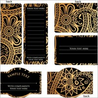 Link toEuropeanstyle simple patterns invitation card 02 vector