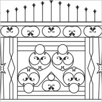 Link toEuropeantype pattern iron fence 02 vector