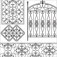 Link toEuropeantype pattern iron fence 05 vector