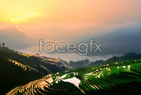 Link toEvening of old edo, terraced landscapes hd photo