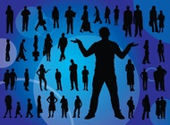 Link toEveryday people silhouettes vector free