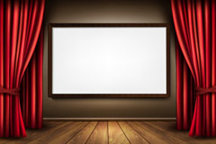 Link toExhibition of exquisite curtain box background vector