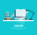 Link toExperimental education illustration vector