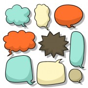 Link toExplosion style speech bubble vector free