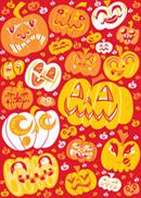 Link toExpression of halloween pumpkins vector