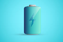 Link toExquisite blue battery icon vector