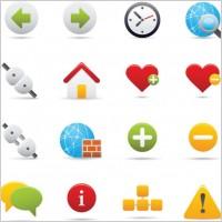 Link toExquisite cartoon icon 02 vector