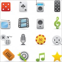 Link toExquisite cartoon icon 03 vector