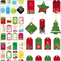 Link toExquisite christmas labels vector