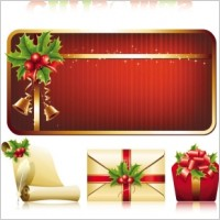 Link toExquisite christmas ornaments vector
