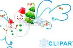 Link tovector ornament snowman christmas Exquisite