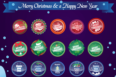 Link toExquisite christmas stickers vector