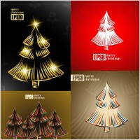 Link toExquisite christmas tree 2 vector
