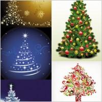 Link toExquisite christmas tree 3 vector