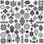 Link toExquisite classical patterns vector