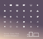Exquisite compact icons vector