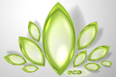 Link toExquisite crystal green petals vector