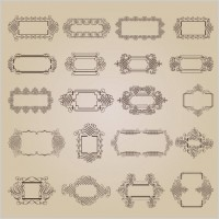 Link toExquisite decorative patterns 02 vector