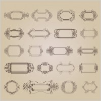 Link toExquisite decorative patterns 03 vector
