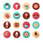 Exquisite dessert icon vector