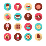 Link toExquisite dessert icon vector