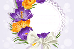 Link toExquisite flower bow card vector
