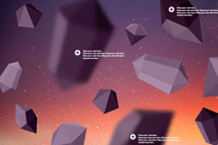 Link toExquisite geometric polyhedron background vector