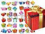 Link toExquisite gift box vector
