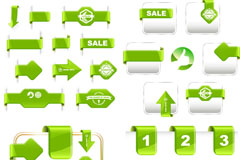 Link toExquisite green angle tag vector