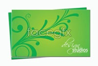 Link toExquisite green business card template vector