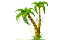 Link toExquisite hand-drawn vector coconut tree