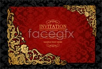 Link toExquisite invitation card template vector graphic
