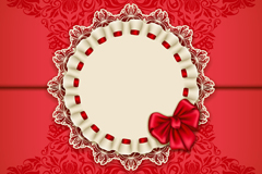 Link toExquisite lace bows card vector