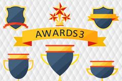 Link toExquisite medal trophy design vector