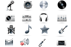 Link toExquisite music device icon vector