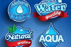 Link toExquisite natural water tag vector