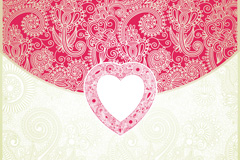 Link toExquisite patterns of love background vector