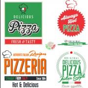 Link toExquisite pizza logos design vector 02 free