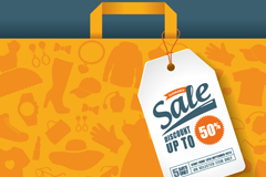 Link toExquisite promotional paper bag and tag vector